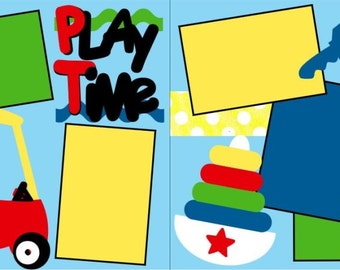 Play Time 2-page 12x12 do-it-yourself scrapbook kit