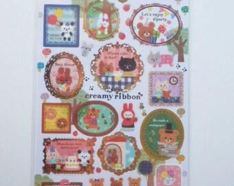 Kawaii Japanese Stickers - Creamy Ribbon - (75546)