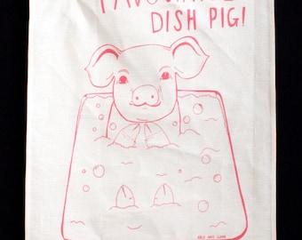 Tea Towel - You're My Favourite Dish Pig