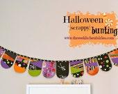 Halloween {scrappy} bunting tutorial. Halloween bunting pattern and tutorial. TKF patchwork essentials
