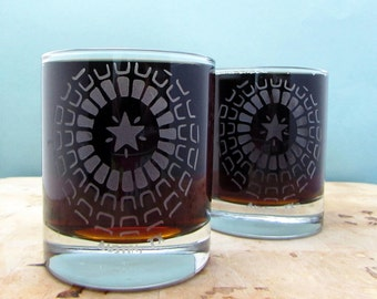 Austin Rotunda | Etched Old Fashioned Cocktail Glass