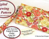 womens wallet sewing pattern, pdf wallet pattern, iphone wallet pattern, digital wallet pattern, wallet tutorial, bags and purses pattern