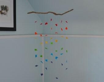 Mobile Driftwood Rainbow Custom Order Decorative Felt Origami
