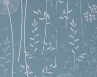 SAMPLE Paper Meadow Wallpaper - Teal