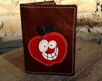 Credit Card Wallet For 4 Credit Cards With Red Apple