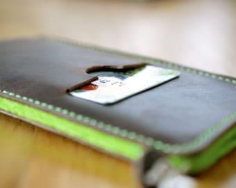 Galaxy S8, Galaxy S8+ Leather Sleeve - KIWI, Organic Leather