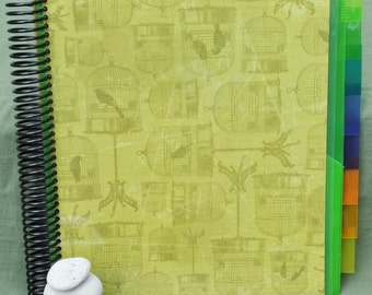 Spiral Bound Pocket Folder Organizer Book