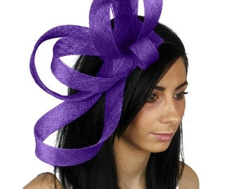 Kate - Purple Fascinator Hat for Weddings, Races, and Special Events With Headband (40 colours)