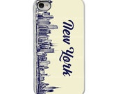On Sale! New York City Skyline with White or Black Sides iPhone Case - IPhone 4, 4S, 5, 5S, 5C Hard Cover -Unique Trendy - artstudio54