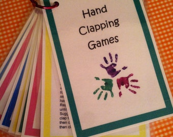 Hand-Clapping Games, Ten Laminated Cards on a Ring