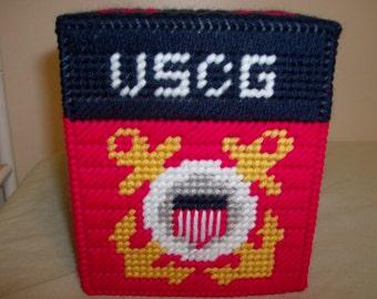 United States Coast Guard Tissue Box Cover, United States Military Tissue Box Cover, Father's Day Gift