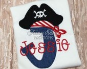 Personalized Pirate Shirt ~ Neverland Theme Shirt ~ Ahoy Matey Shirt ~ Boys Pirate Shirt ~ Birthday Pirate Outfit ~Jake Pirate Shirt