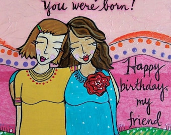 Greeting Card: Birthday Friend