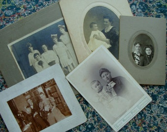 Antique Cabinet Photos Lot  Victorian Mothers Day Special