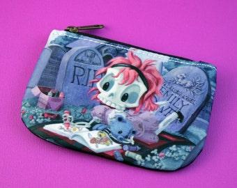 Wee Emily Dover - Cute Skeleton Girl Coloring - Coin Purse