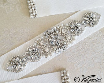 GROSGRAIN Bridal Sash, Wedding Sash, Bridal belt, Wedding Sash belt, PetershamGgrosgrain Sash