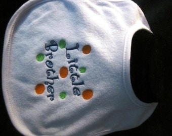 Embroidered Bib for LITTLE BROTHER
