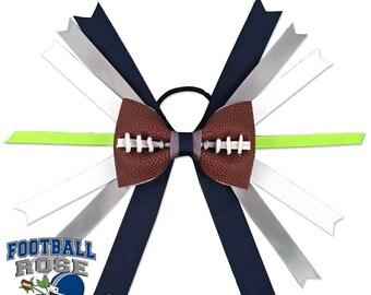 Football Hair Bow - Seattle