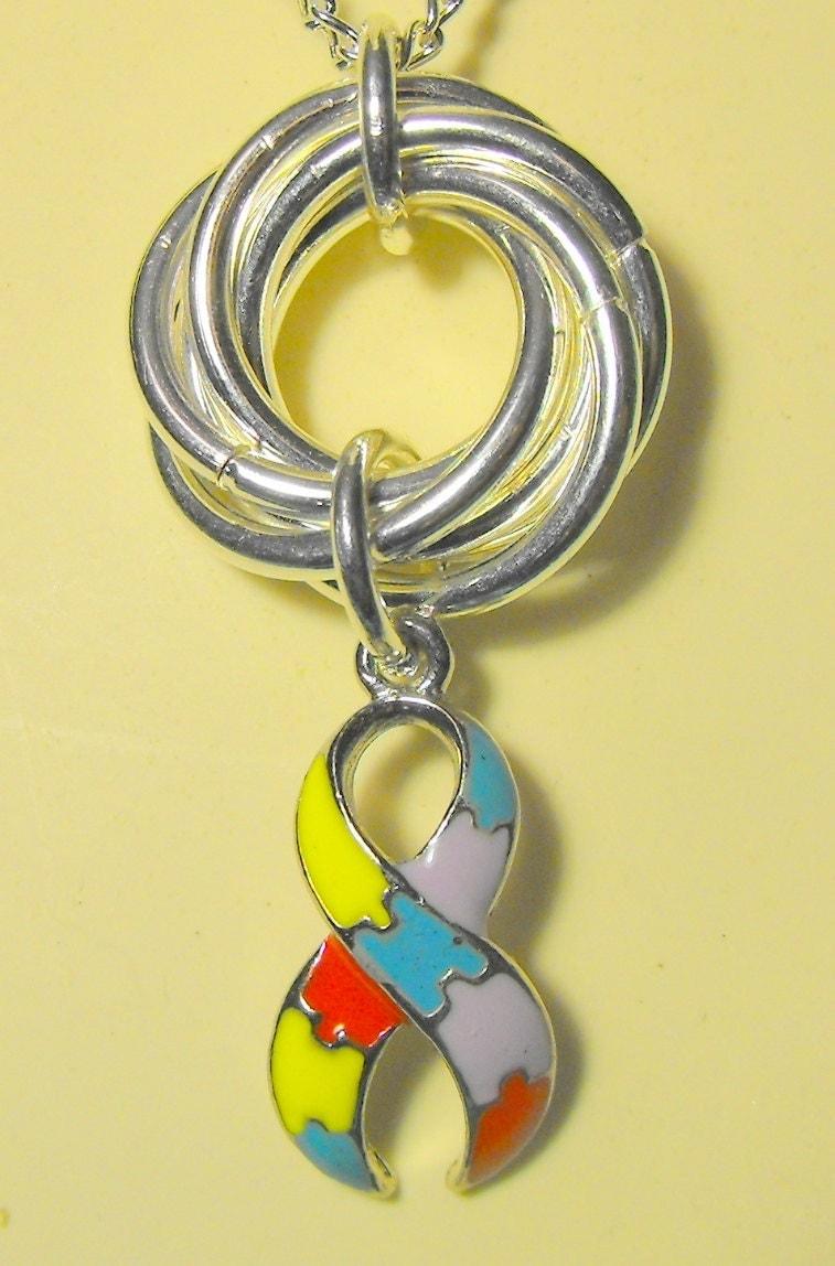 mobius ring necklace autism awareness