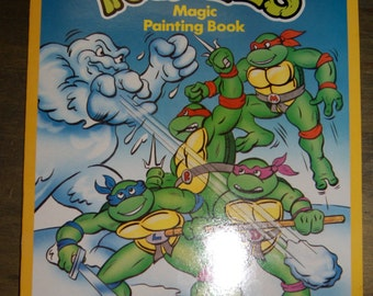 Vintage Teenage Mutant Ninja Turtles Magic Painting Book from London