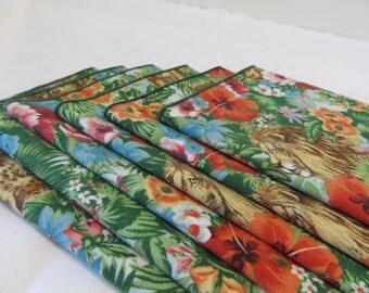 Cloth Napkins Jungle Theme Set of 6