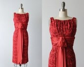 Vintage 1960s Dress / Cocktail Dress / 60s Red Dress / Red Wiggle Dress / Signature Looks