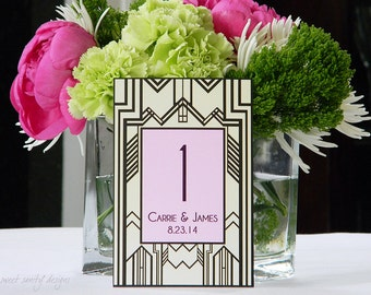 Wedding Table Numbers // Art Deco Style // Gatsby Inspired