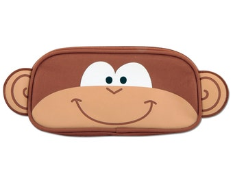 Personalized Stephen Joseph Monkey Pencil Pouch