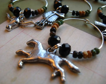 State Set - TEXAS - State Wine Charms