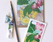 iPhone5 Sticker and matching blank art card: Rhododendron and yellow teapot