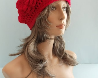 Crocheted Red Beret