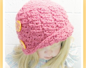 Crochet Cloche Hat  Adult and Child  Pattern