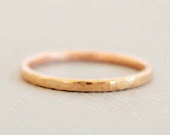 Rose Gold Ring 14 gauge Thumb Ring, Midi Ring or Pinky Ring rose gold jewelry stacking ring jewellery Australia