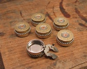 Shotgun Casing Jewelry - Winchester 28 Gauge Button Covers - Set of 6 - Dress up Your Favorite Western Wear