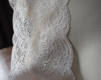 Pink Blush Lace Chantilly Style for Bridal, Garment, Costume or Jewelry Design  CH 417