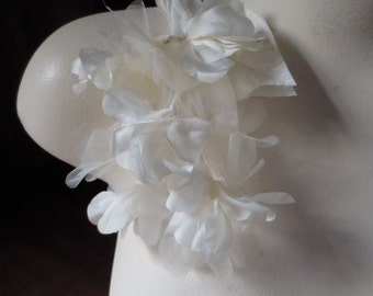 Ivory Silk Flowers Organza for Bridal, Boutonnieres, Millinery, Corsages. MF 37