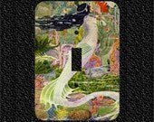 Colorful Art Deco Mermaid Light Switch Plate Covers Toggle/Rocker/Outlet