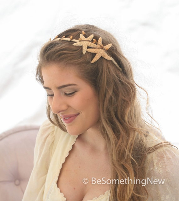 Starfish Headband Beach Wedding Hair Accessory Sea Shell