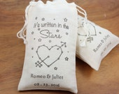 "Wedding Favor Bags 3.25"" x 5"" - It's written in the stars - Set of 100 -  personalized wedding favors,bachelor, bachelorette party favors"