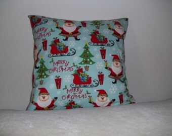 Happy Holiday Santa Pillow Covers - Set of 2