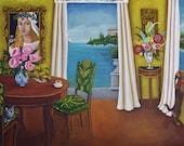 Art Print of an Original Painting-still life Interior Villa Buggea