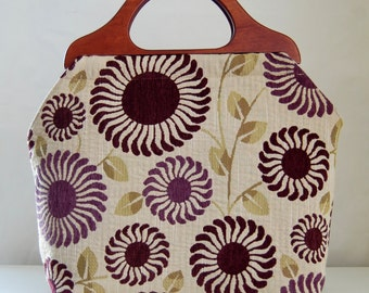 Adora Mulberry Large Craft Project Tote/ Knitting Tote Bag - Ready to Ship