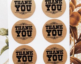 Stickers Thank You Envelope Seals Wedding Treat Bag Party Favor Sticker S018K