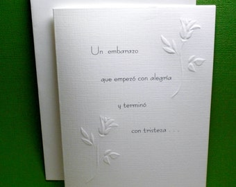 Pregnancy Loss Sympathy Card  E / SPANISH