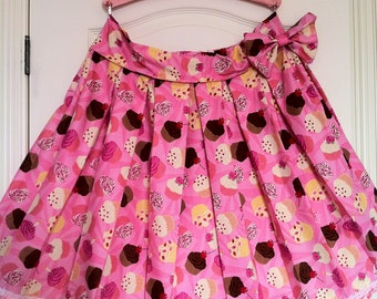 Cupcake Skirt with Bow - Custom Made to your Size