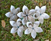 Twilight Recycled Book Paper Flowers {5 Medium Size}