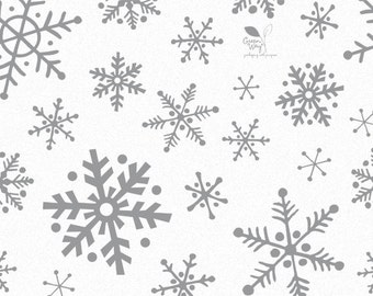 Silver Snowflake Tissue Paper . 20 x 30 inches . 12 sheets
