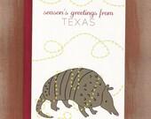 Season's Greetings From Texas Armadillo Holiday Cards (10/box)