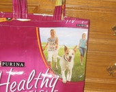 Upcycled Reusable market grocery tote bag for dog lovers