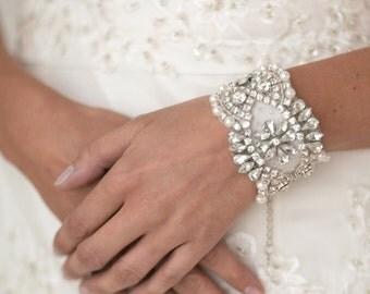 Wedding Pearl Bracelet, Bridal Jewelry,  Bridal Bracelet, Wedding Bracelet